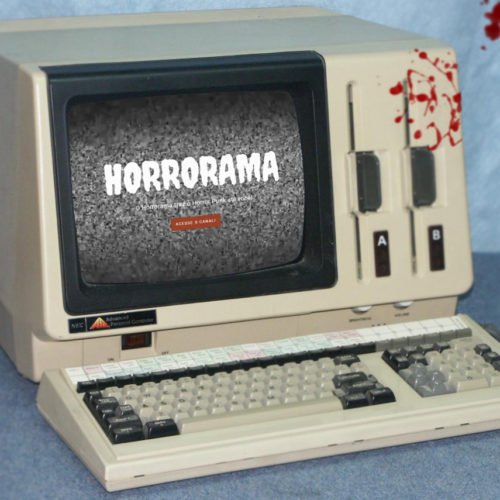 computador com site do horrorama