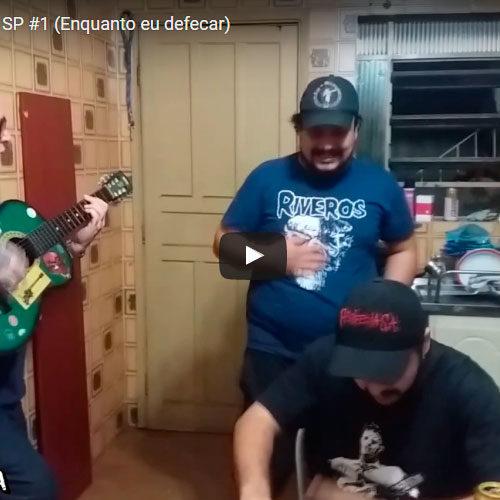 Gravação do novo album do Pesadelo Brasileiro em SP #1 (Enquanto eu defecar)